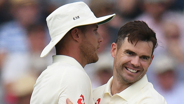 James Anderson and Stuart Broad picked eight wickets in the second innings.