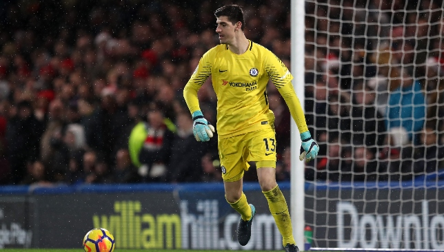 Courtois was first choice at Chelsea since 2014