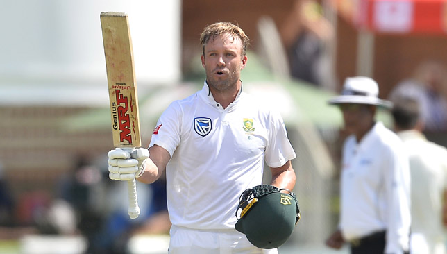 AB de Villiers rated his Port Elizabeth Test century as his best.