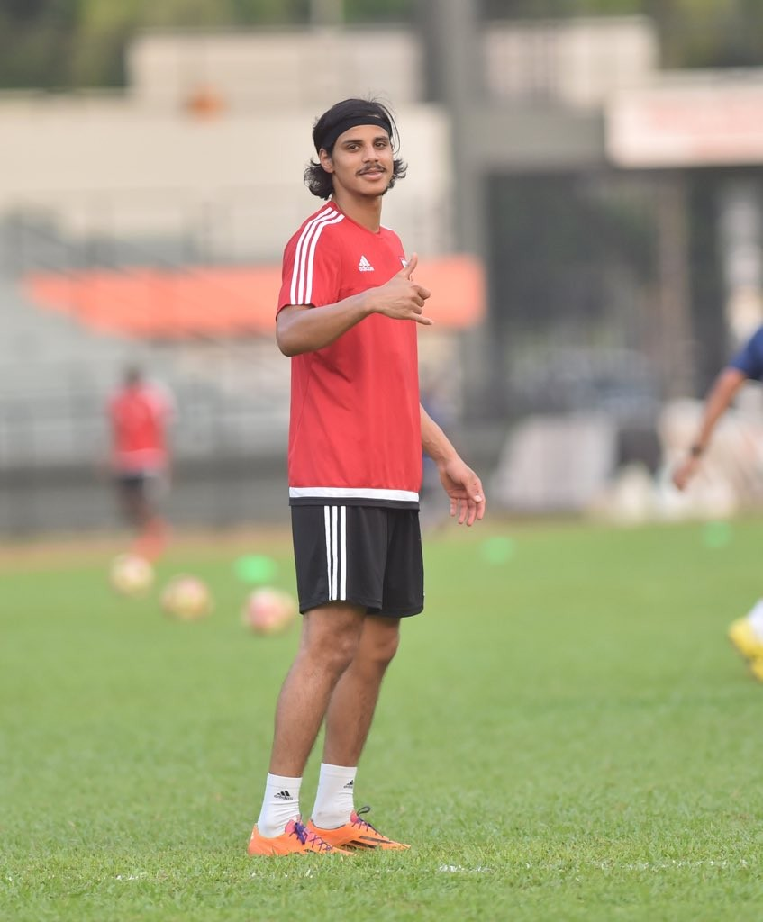 Hot shot: Forward Ahmed Al Attas.