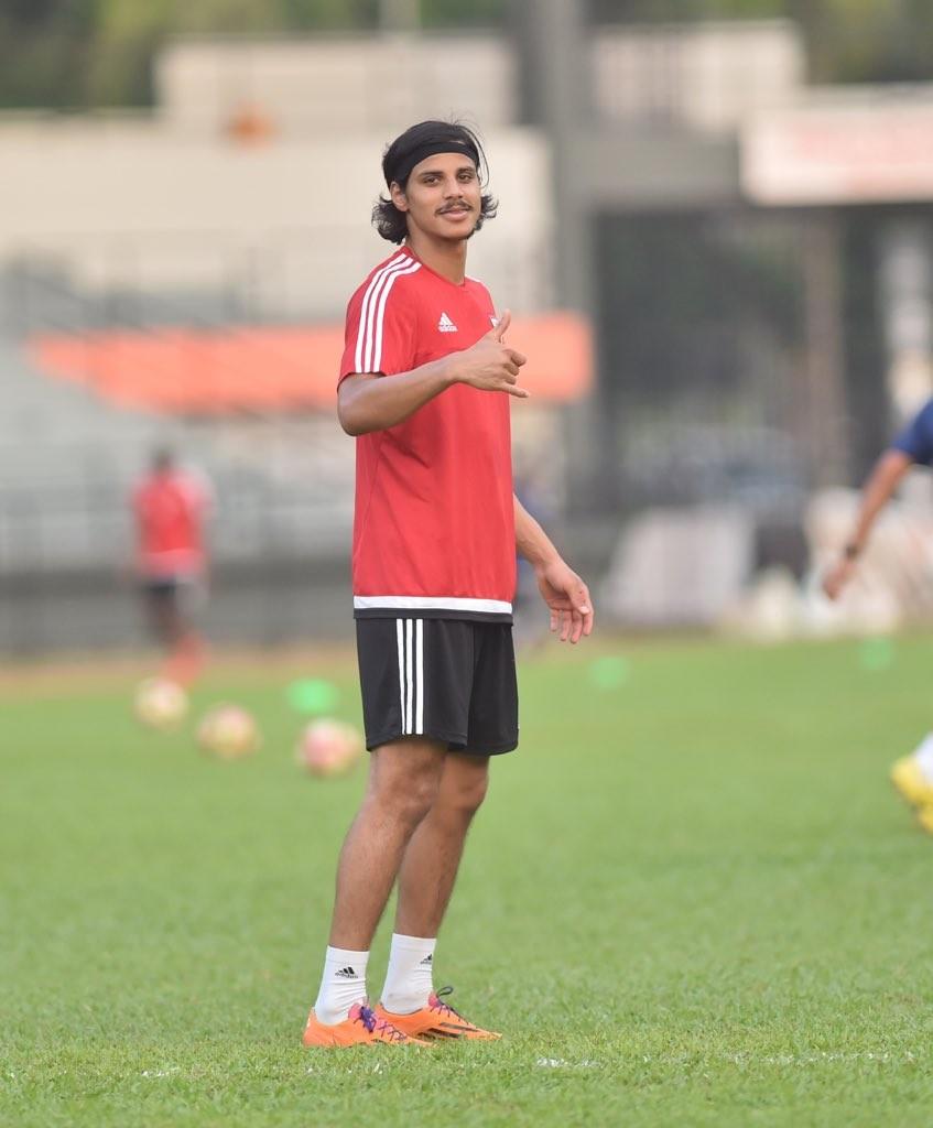 Hot shot: Forward Ahmed Al Attas.