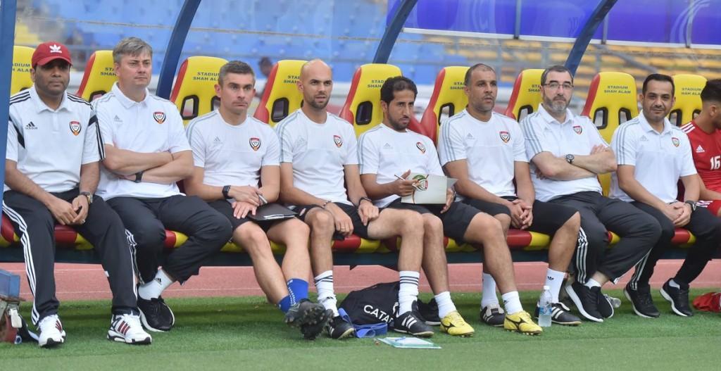 Guiding hand: UAE U-23 coach Maciej Skorza (2nd l).