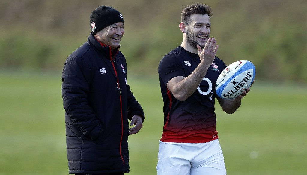 Eddie Jones (l) and Danny Care
