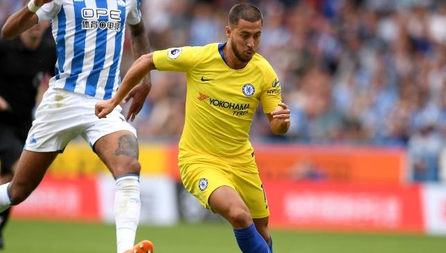 Eden Hazard starred during Chelsea's win at Huddersfield.
