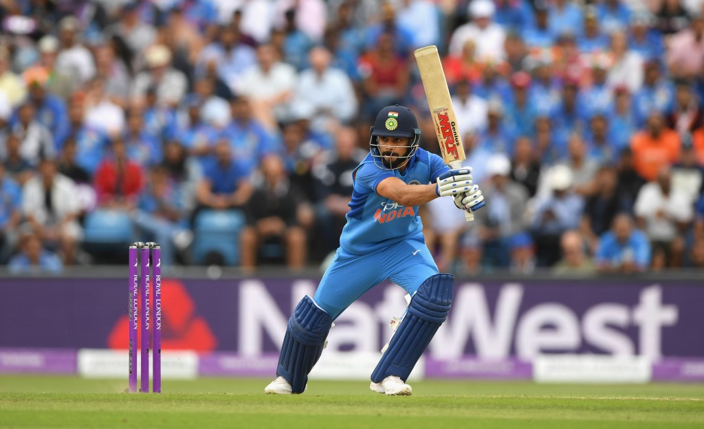 Kohli leads India across all three formats of the game.