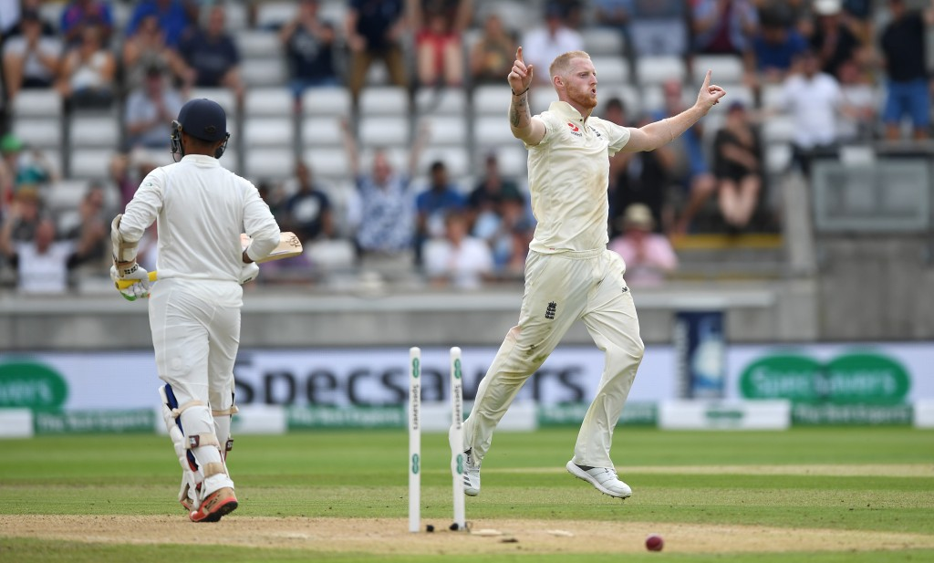 Ben Stokes' fiery spell after lunch destroyed India's middle-order.