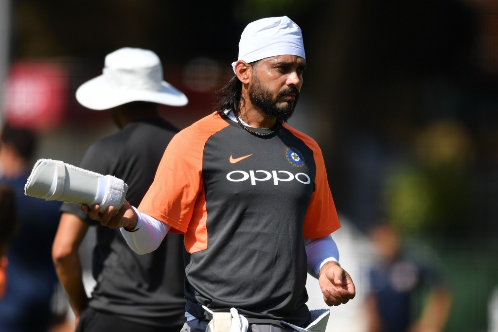 India's Murali Vijay attends a practice session at Lord's Cricket Ground in London on August 7, 2018 ahead of the second Test cricket match between England and India. (Photo by Ben STANSALL / AFP) / RESTRICTED TO EDITORIAL USE. NO ASSOCIATION WITH DIRECT COMPETITOR OF SPONSOR, PARTNER, OR SUPPLIER OF THE ECB (Photo credit should read BEN STANSALL/AFP/Getty Images)