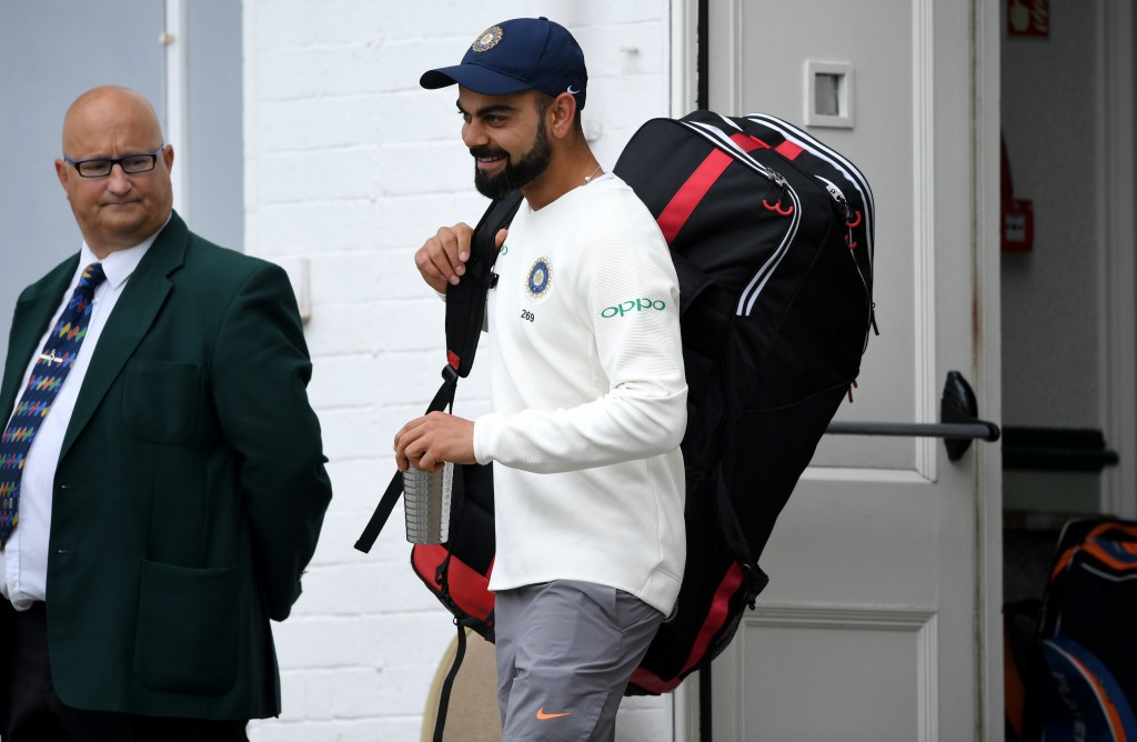 Kohli looked to be in good spirits and showed no signs of discomfort.