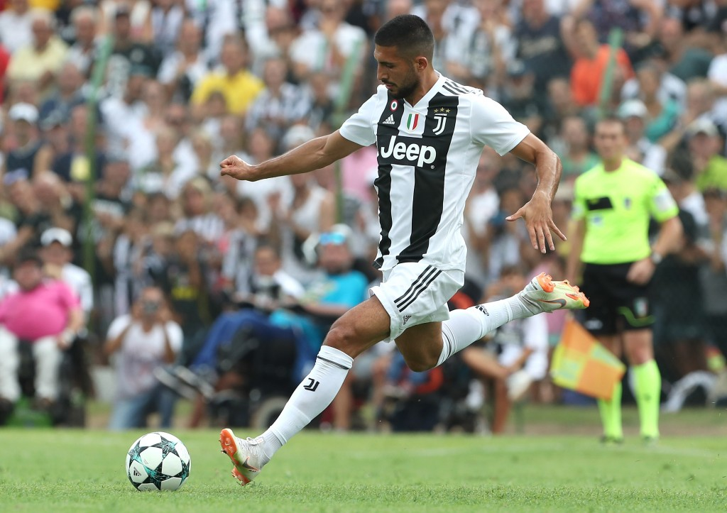 VILLAR PEROSA, ITALY - AUGUST 12: Emre Can of Juventus in action during the Pre-Season Friendly match between Juventus and Juventus U19 on August 12, 2018 in Villar Perosa, Italy. (Photo by Marco Luzzani/Getty Images)