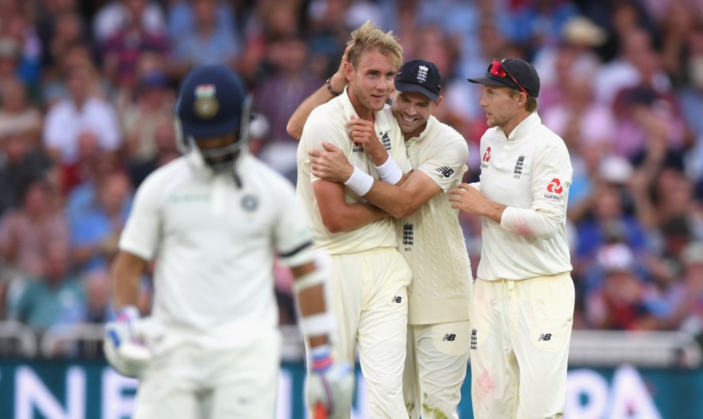 Broad struck early on day two for England.