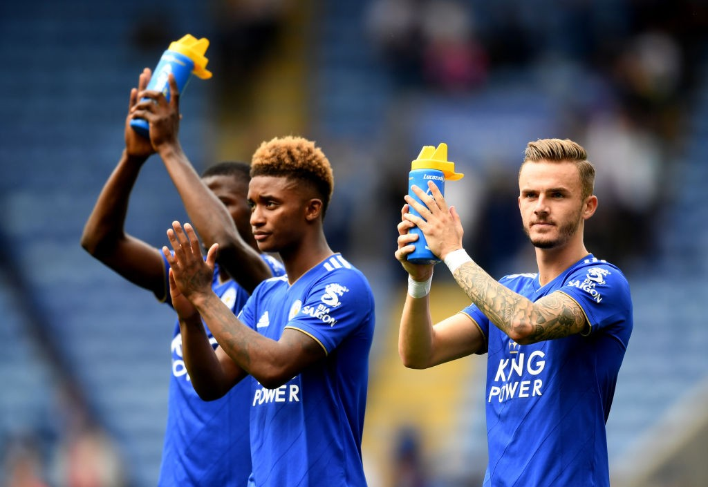 Kelechi Iheanacho, Demarai Gray and James Maddison