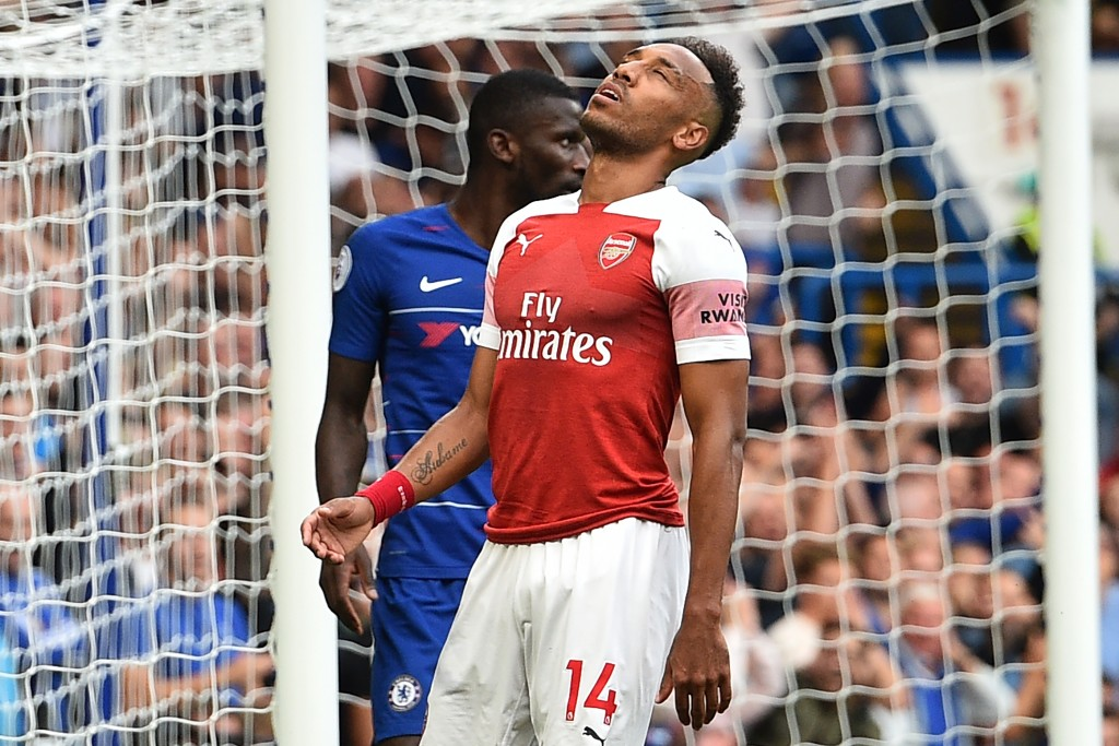 Aubameyang was guilty of wasting two chances against Chelsea.