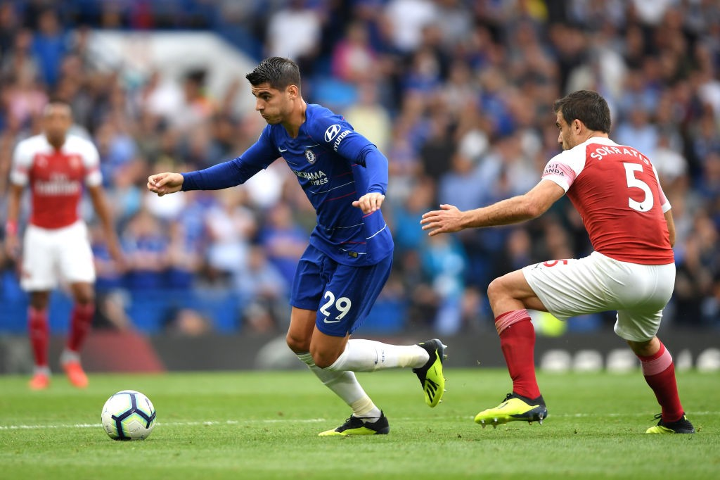 Alvaro Morata got in behind for Chelsea's second