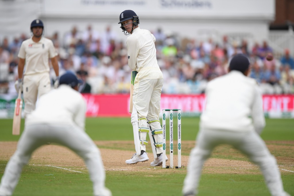 Jennings' vulnerability outside the off-stump remains.