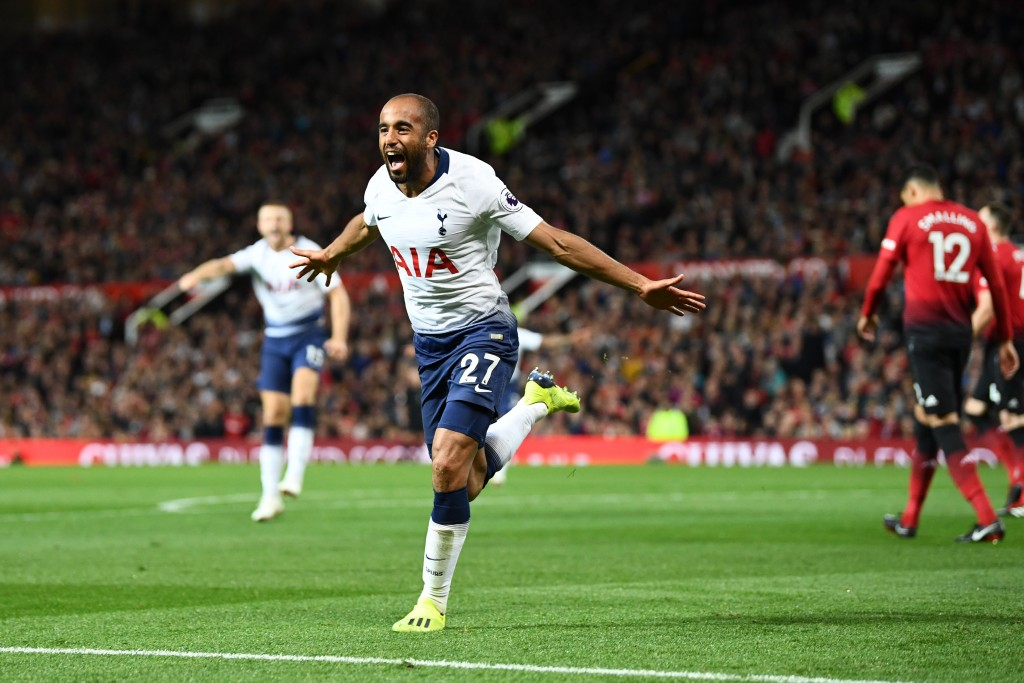 Lucas Moura scored twice for Tottenham in their 3-0 victory against Manchester United