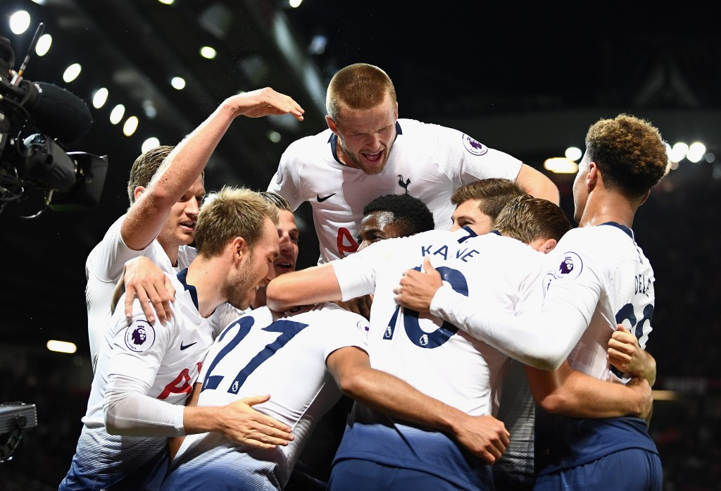Tottenham move up after their win against Man United