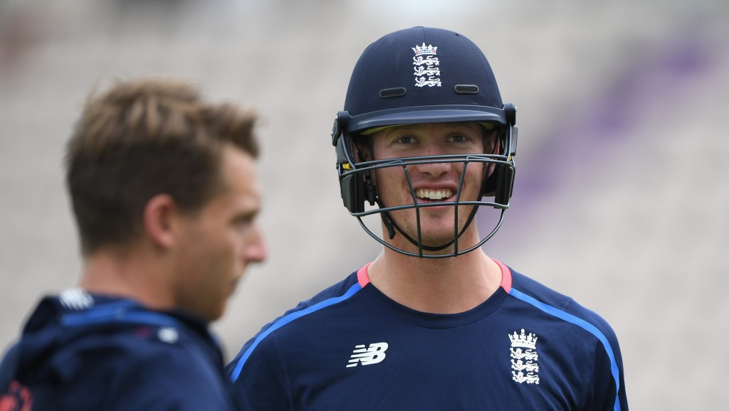 SOUTHAMPTON, ENGLAND - AUGUST 28: England player Keaton Jennings looks on during England Nets ahead of the 4th Specsavers Test Match at The Ageas Bowl on August 28, 2018 in Southampton, England. (Photo by Stu Forster/Getty Images)