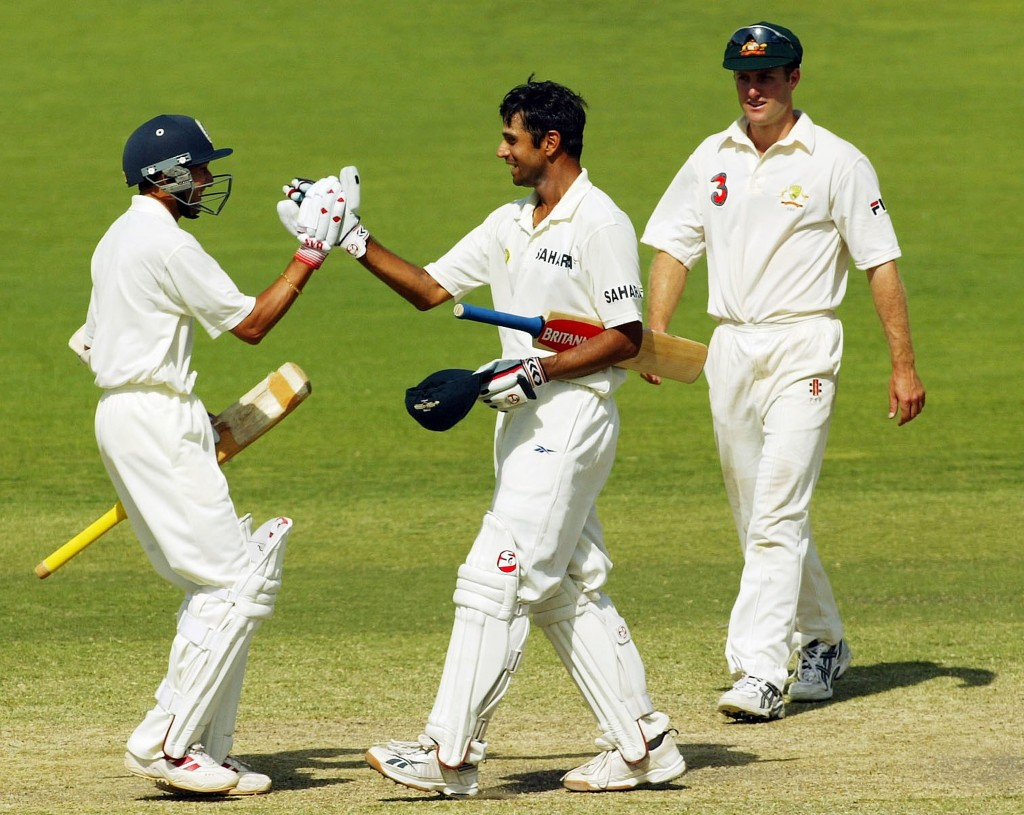 Rahul Dravid shone in both innings to guide India to a win.