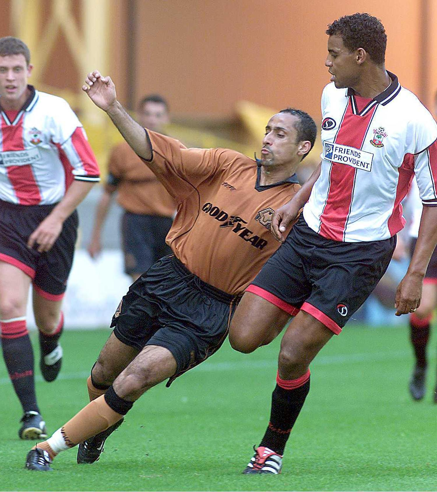 Make your own way: Saudi Arabia's Sami Al Jaber experienced a mixed time on loan at Wolverhampton Wanderers in 2000.