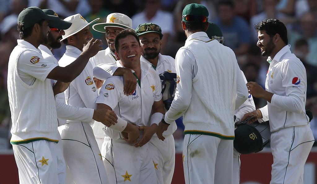 Yasir Shah's 10-wicket match haul spun Pakistan to victory.