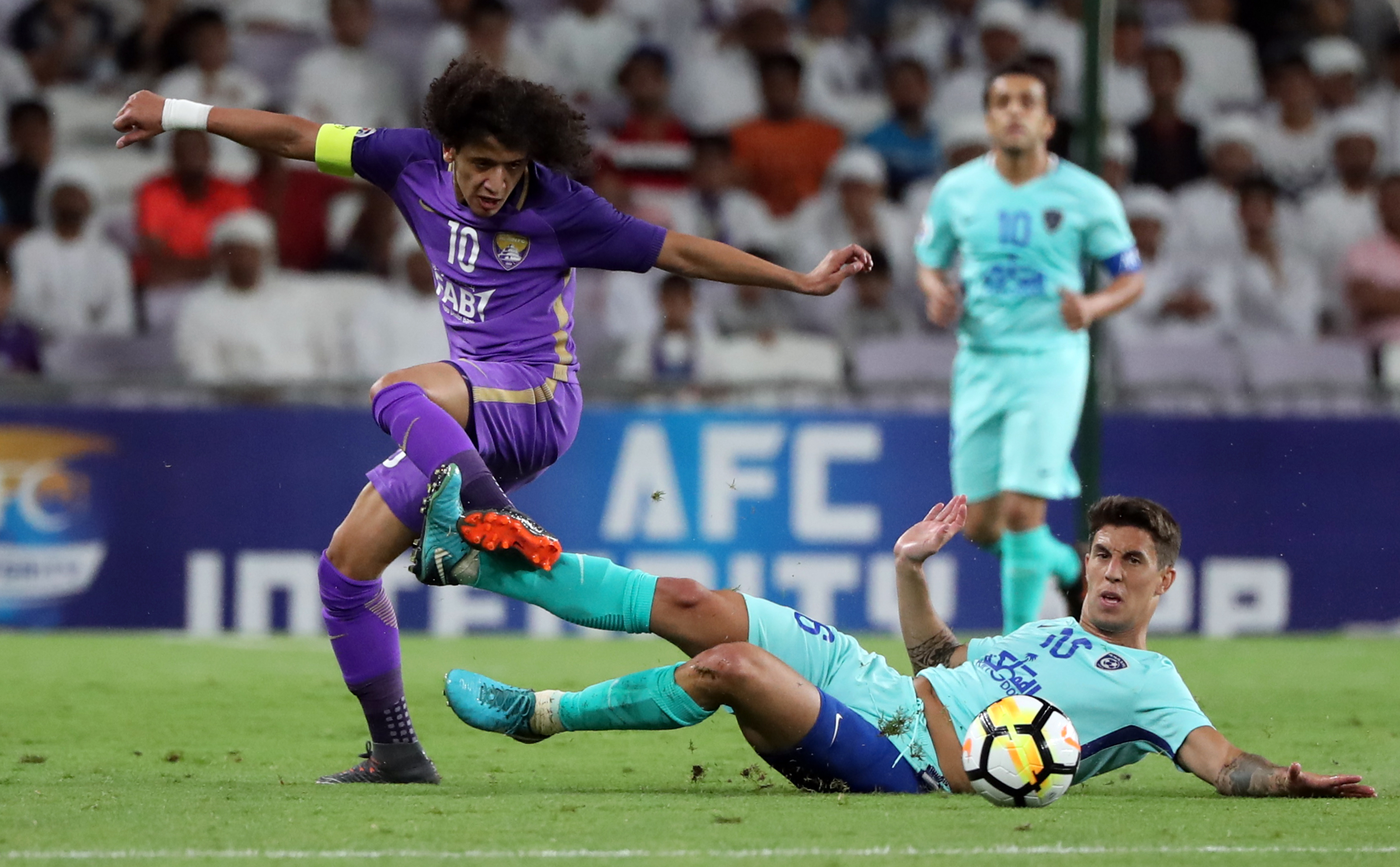 Foe to friend: Omar Abdulrahman played against Al Hilal last season.