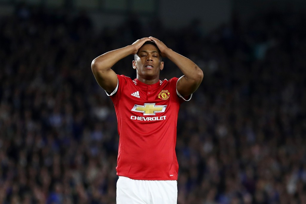 Martial's relationship with Mourinho remains strained.