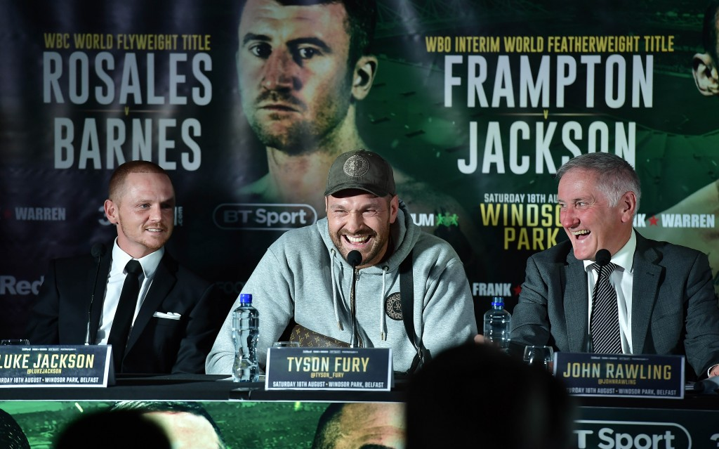 Tyson Fury is on a comeback trail.