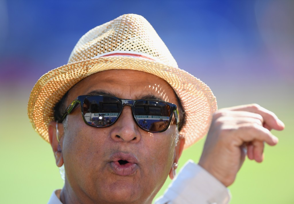 CARDIFF, WALES - JULY 06: India legend Sunil Gavaskar looks on during the 2nd Vitality T20 International between England and India at Sophia Gardens on July 6, 2018 in Cardiff, Wales. (Photo by Stu Forster/Getty Images)
