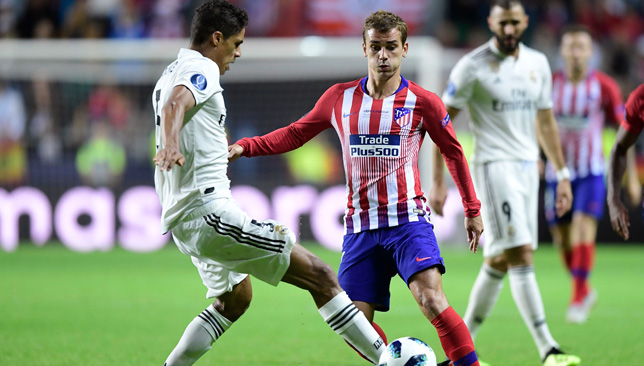 Antoine Griezmann will again lead the attack for Atletico Madrid