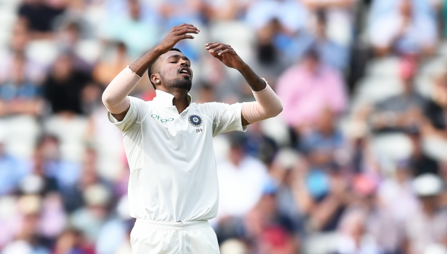 Pandya went wicketless in the first Test.