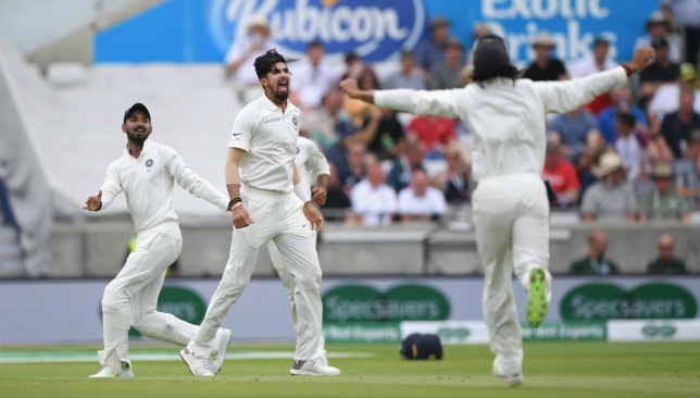 Ishant had picked up 5-51 in the second innings at Edgbaston.