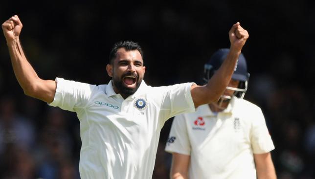 Shami picked up three wickets.