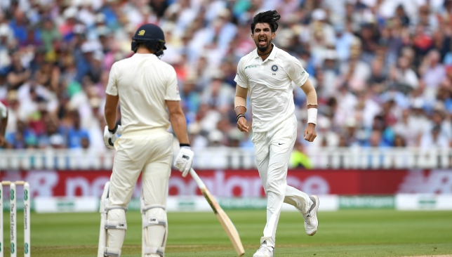 Ishant Sharma struck either side of lunch.