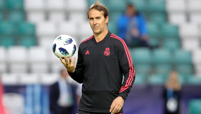 Julen Lopetegui is happy with his squad