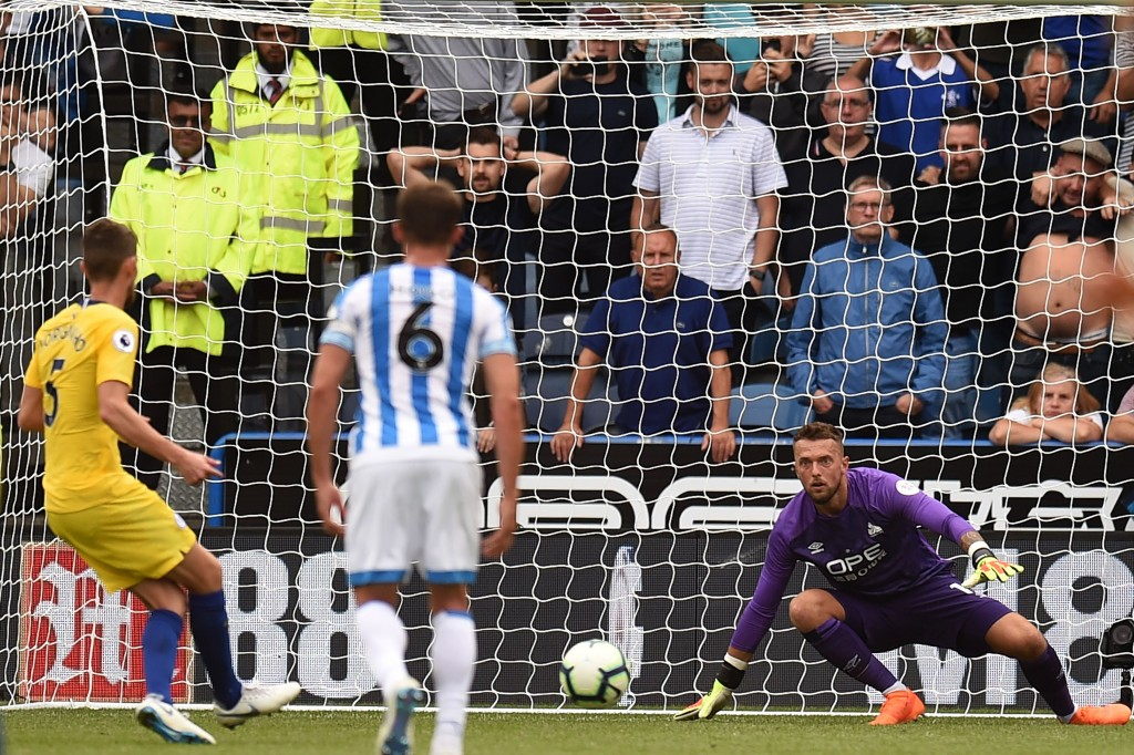 Cheeky: Jorghino's penalty against Huddersfield