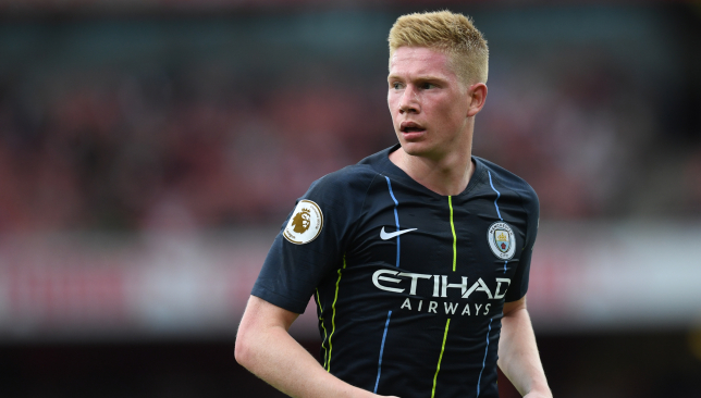 Kevin De Bruyne will be missing for City for a few months.