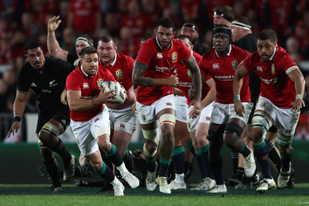 Lions marauding against the All Blacks in 2017