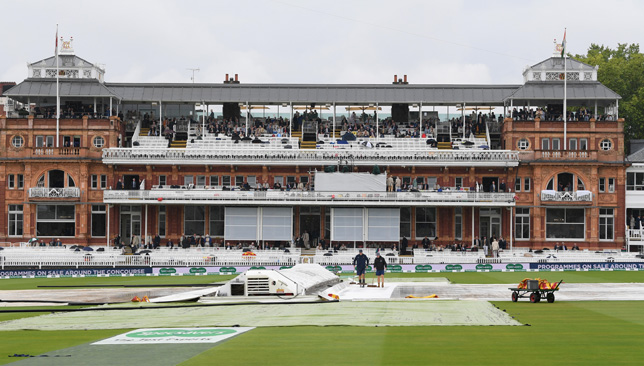 Washed out: Not a single ball was bowled on Thursday