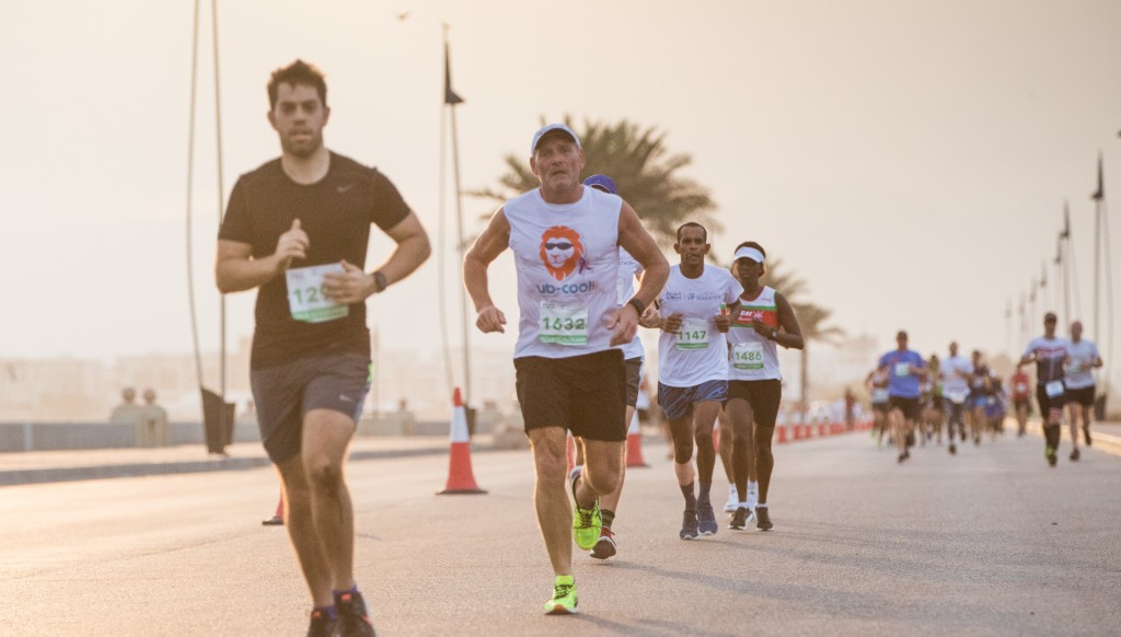 Action from the 2018 Muscat Marathon.