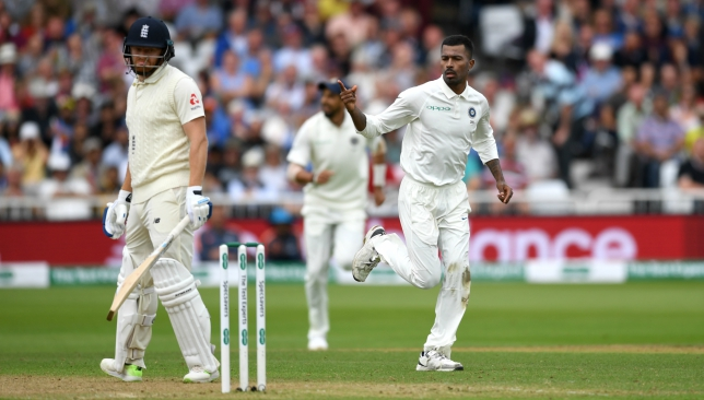 Pandya's spell saw England lose 10 wickets in a session.