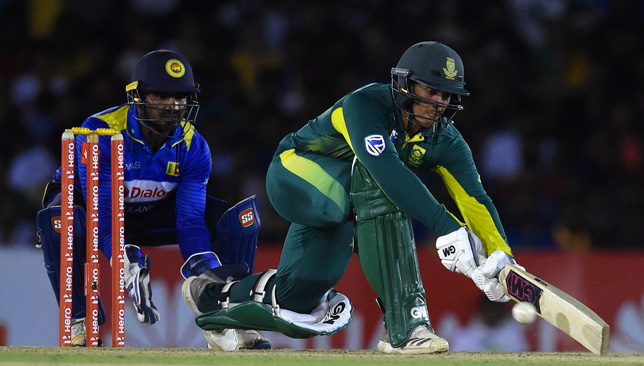 Quinton de Kock top-scored for South Africa with 87.