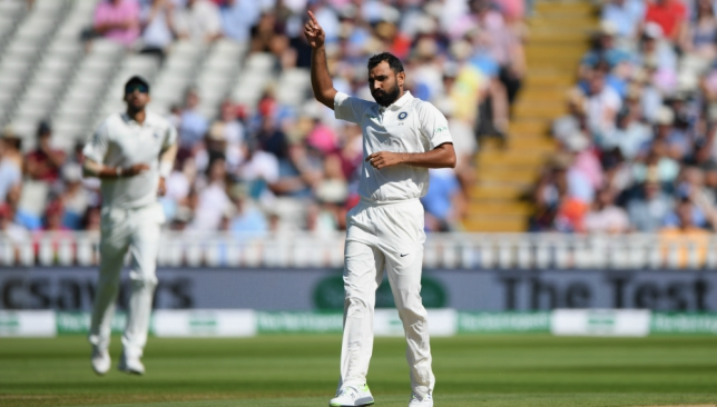 Shami picked up three wickets in England's first innings.