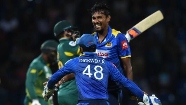 Suranga Lakmal bowled a terrific final over to lead Sri Lanka to a win.
