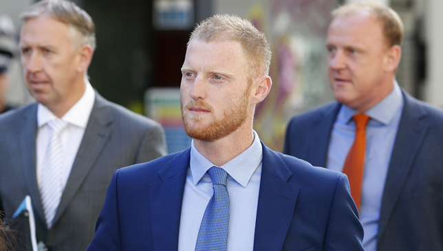 Ben Stokes was found not guilty on Tuesday