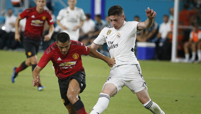 Federico Valverde (right) impressed for Real in pre-season