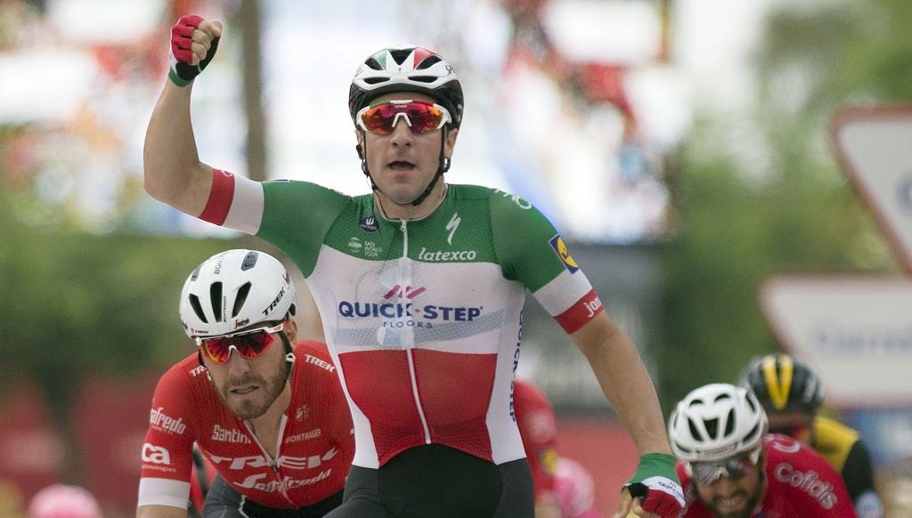 Elia Viviani won Stage 3 in Spain.