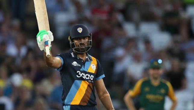 Wahab Riaz slammed a 31-ball 53 in the T20 Blast.