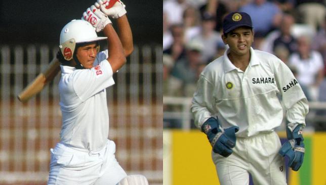 Sachin Tendulkar and Parthiv Patel.