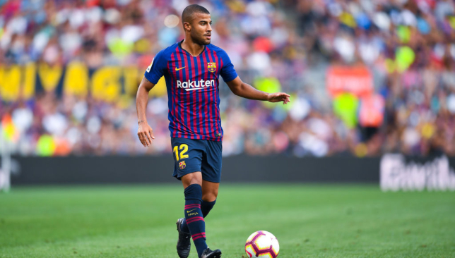 Rafinha featured for Barcelona during pre-season.