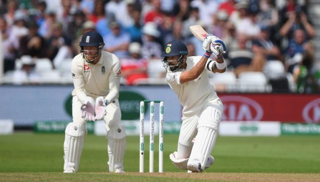 Virat Kohli has notched up a half-century.